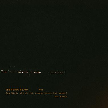 望着高隆湾的黑色海面