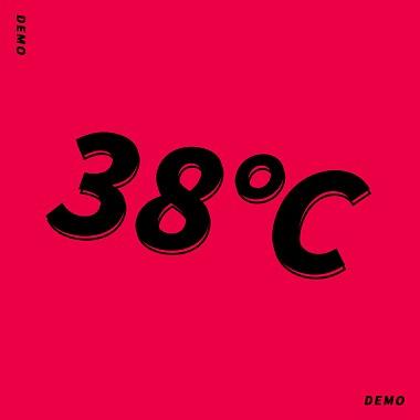 38℃(demo)